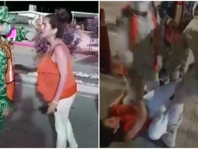 embarazada cacheteó ejército video