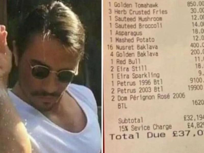 Familia acude restaurante Salt Bae pagan 50000