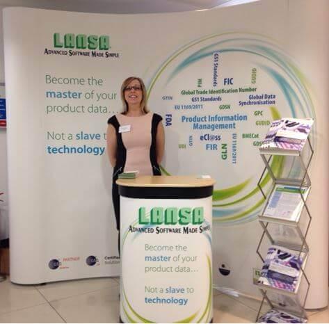 LANSA representative at the Association of British Healthcare Industries