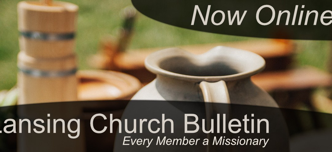 Lansing Church Bulletin