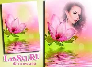 Роскошный цветок - прелестный фотоэффект