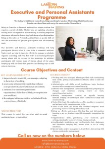 thumbnail of executive and personal assistants programme