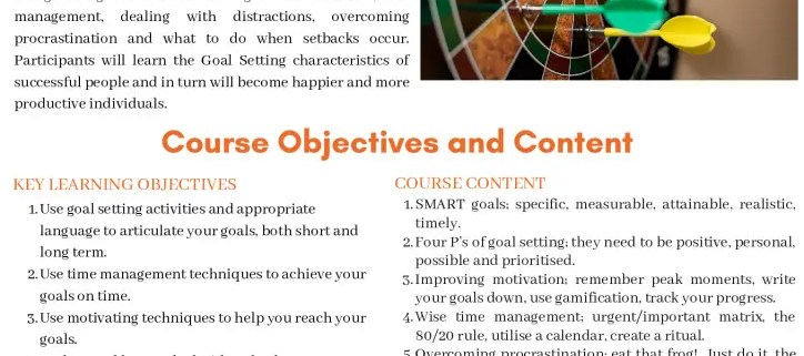 thumbnail of goal setting and getting things done