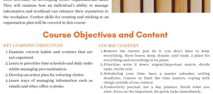 thumbnail of organisation skills