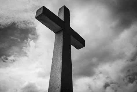 black and white cemetery christ church