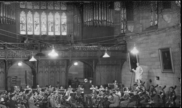 Eugene Goossens conducting