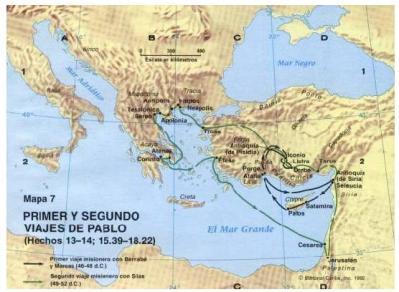Viajes de Saulo de Tarso