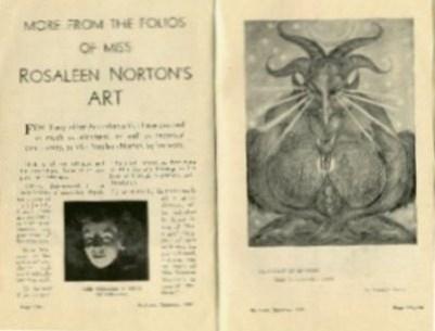 'Más acerca de los folios del arte de miss Rosaleen Norton' (Artículo en Pertinent, Sidney, diciembre 1941).