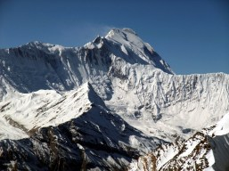 North side of Annapurna from the summit of Chulu Far East
