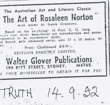 Publicidad del libro de Norton editado por W.Glover, 1952