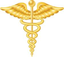 Illustration of the medical symbol, caduceus for your design needs.