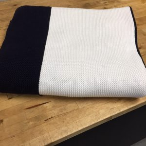 Cotton Knit Stripe Throw