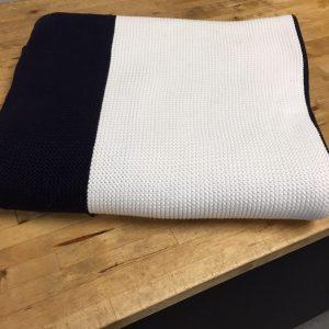 Cotton Knit Stripe Throw