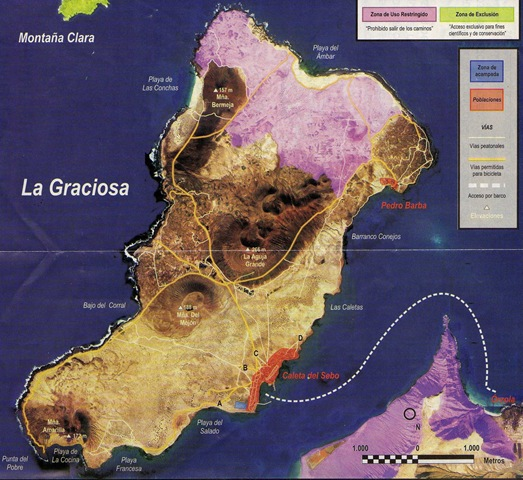 Map La Graciosa