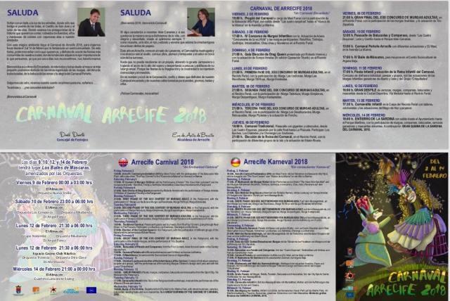 Carnival Programme Arrecife 2018
