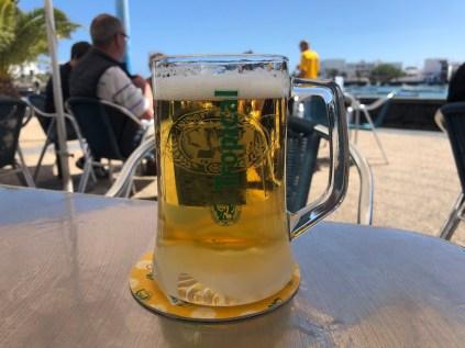 Large beer at Papa Miguel