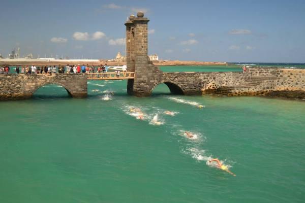 Open water swim races Lanzarote