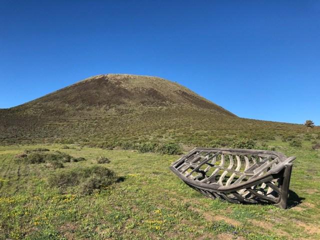 Blue sky day patera skeleton La Corona Guinate
