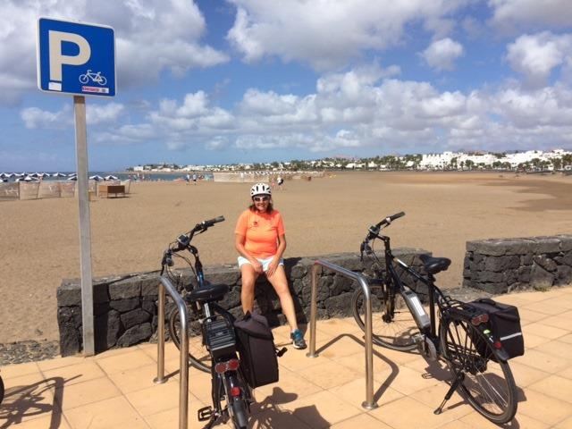 Julie with an E-bike