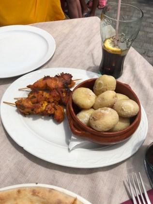 Canarian potatoes & chicken tikka