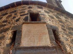 Inscription above the door