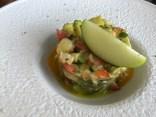 Langostinos with avocado