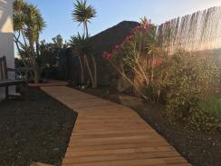 Walkway to pool from Master bedroom