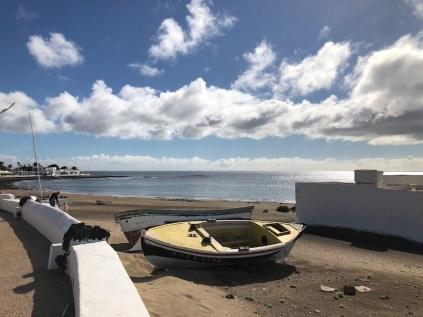 Boats on the beach in Playa Honda