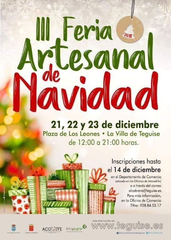 Feria Artesanal de Navidad Teguise