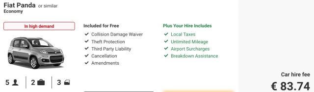 Ryanair car hire