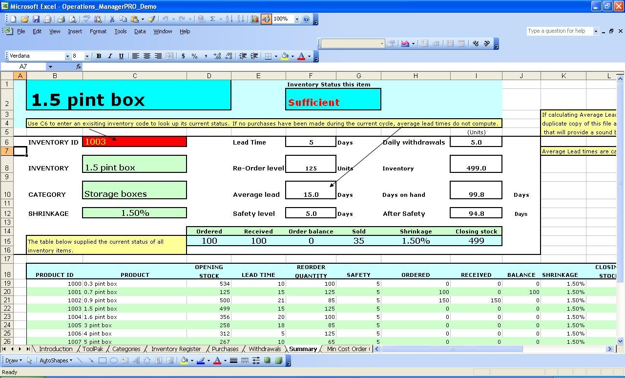 Cattle Inventory Spreadsheet