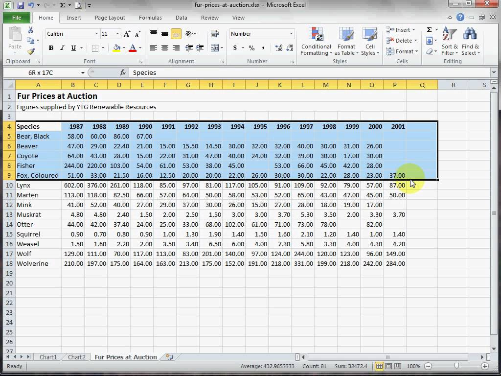 Jumlah Worksheet Excel
