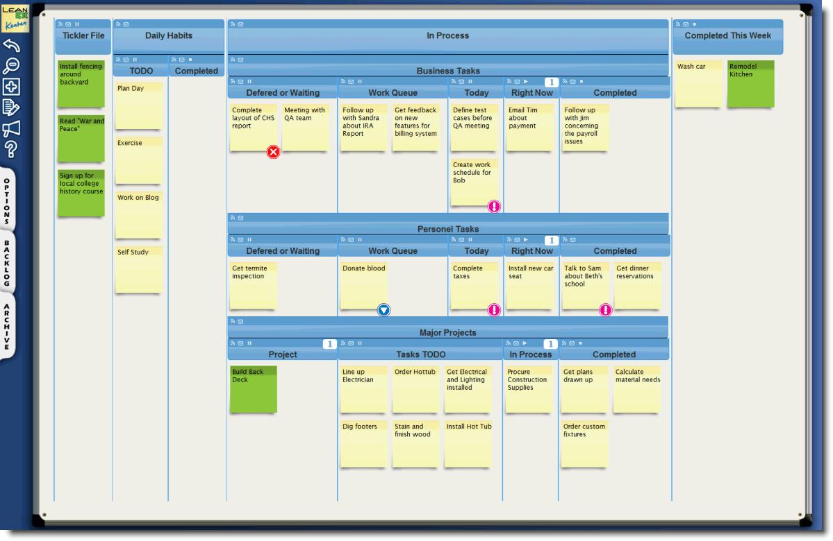 Kanban Excel Spreadsheet
