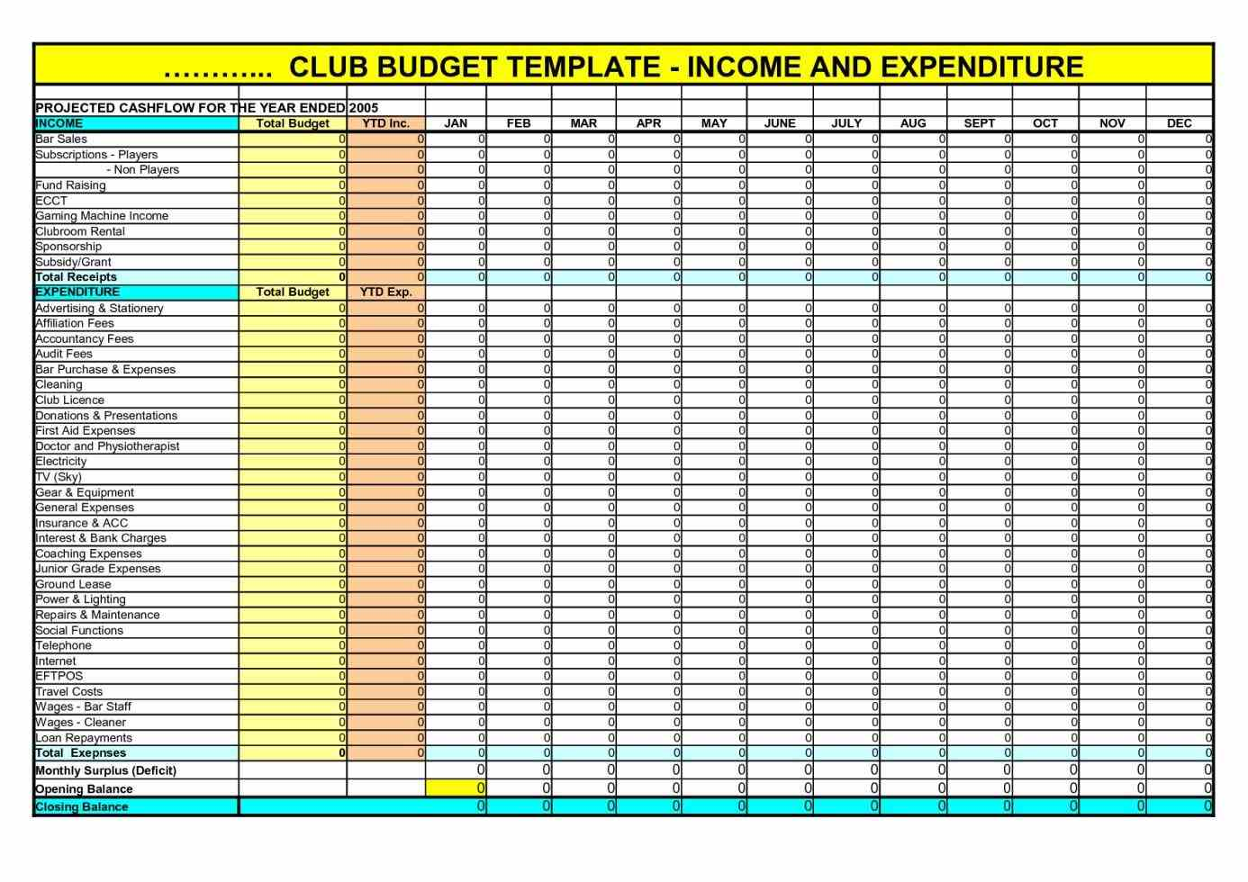 Download Income And Expenses Spreadsheet Template For