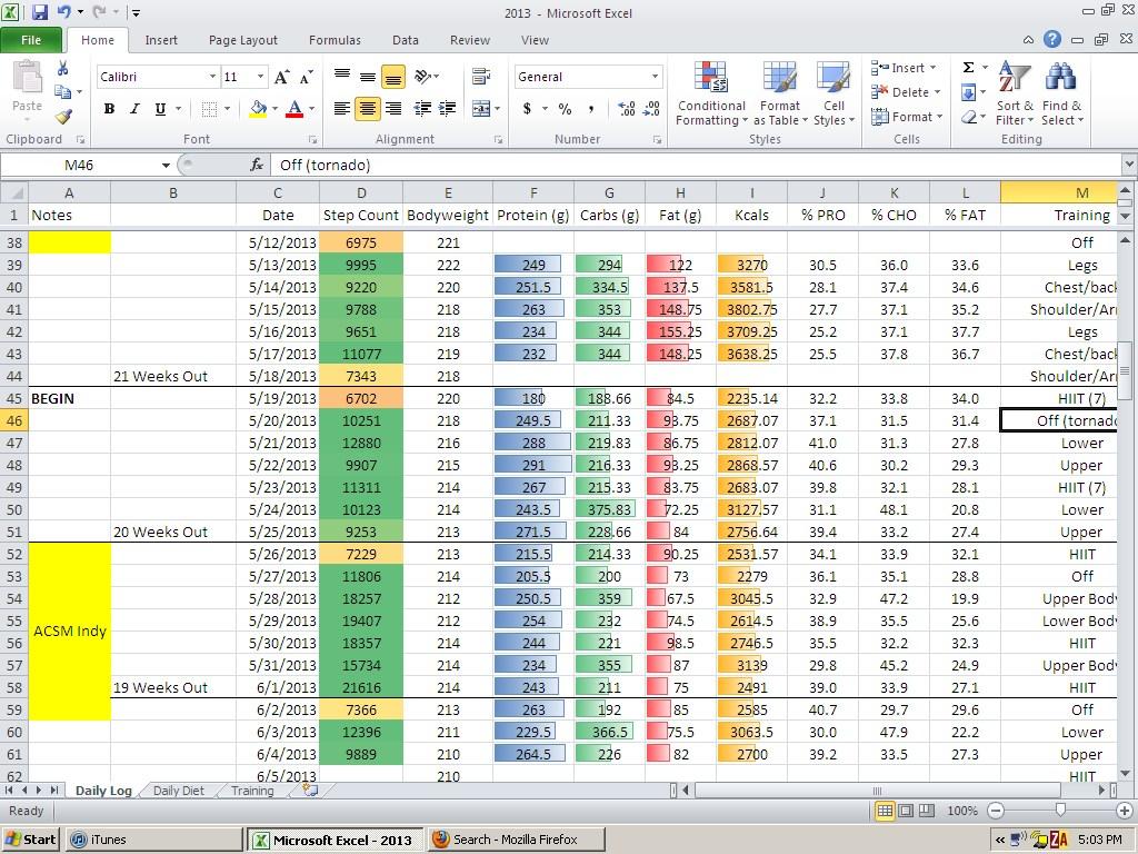 T Tracker Spreadsheet Templates