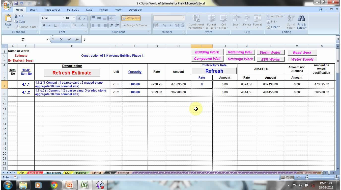 Electrical Engineering Excel Spreadsheets