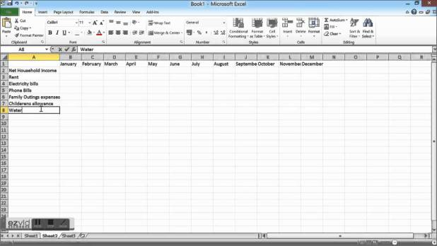 how to make a monthly budget in excel