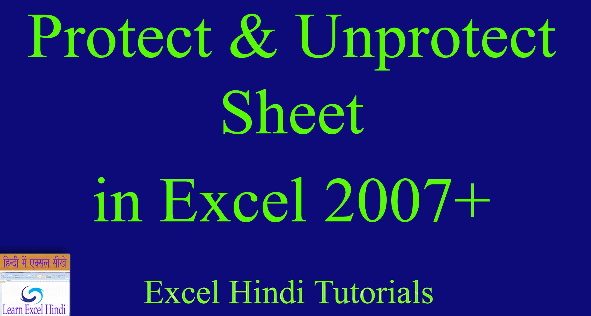 How To Unprotect Excel Sheet If Forgot Password