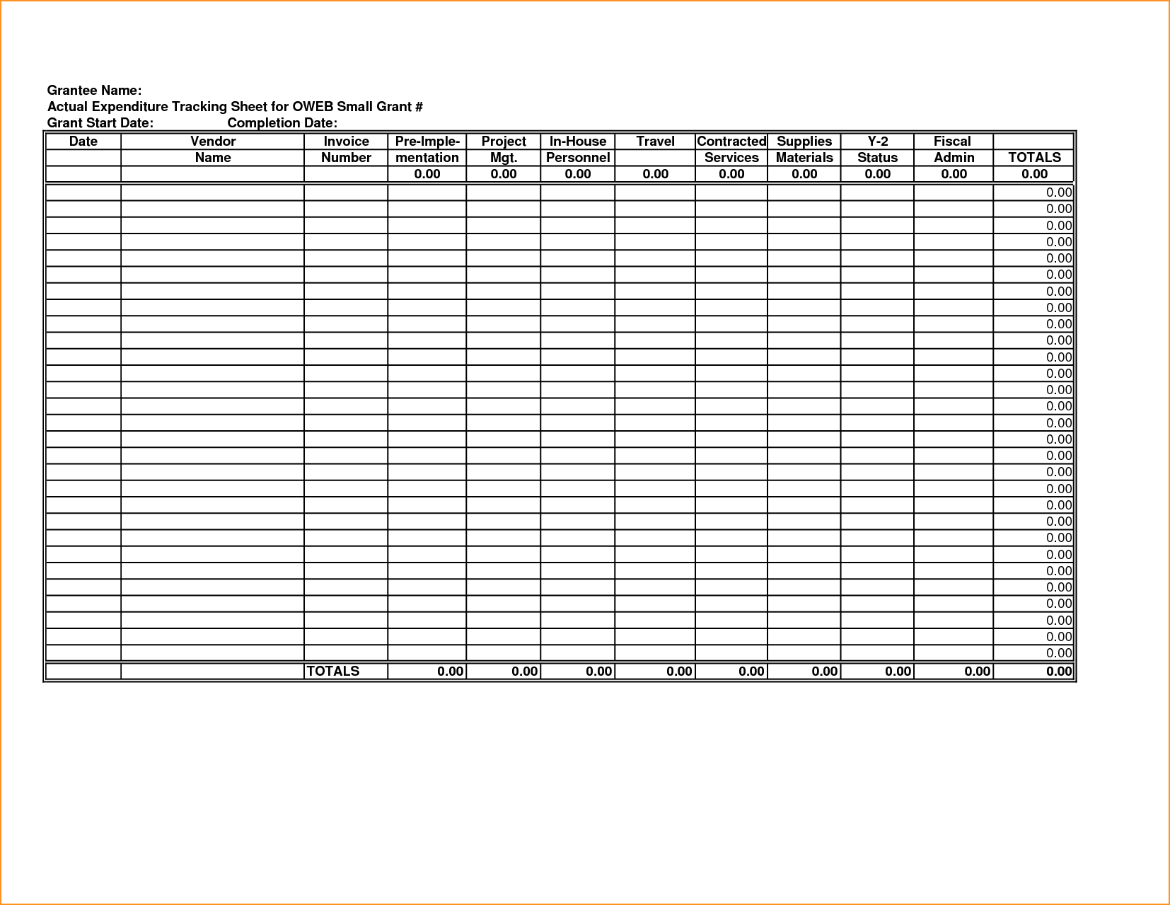 Medical Expense Tracker Spreadsheet