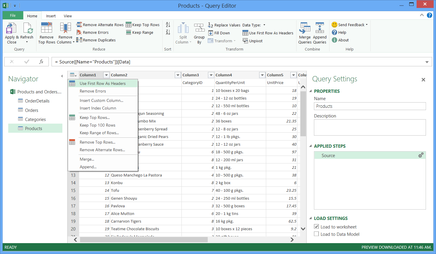 Merging Excel Sheets Into One Sheet