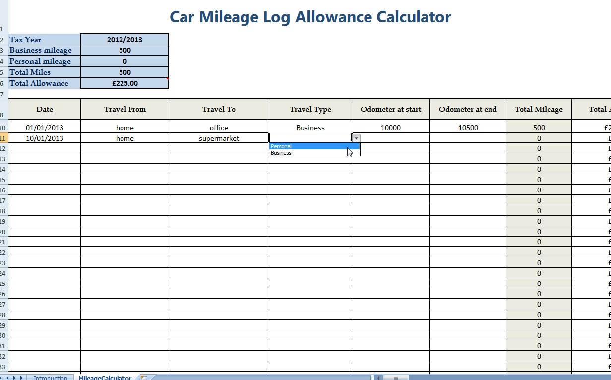 Mileage Reimbursement Rate Ca