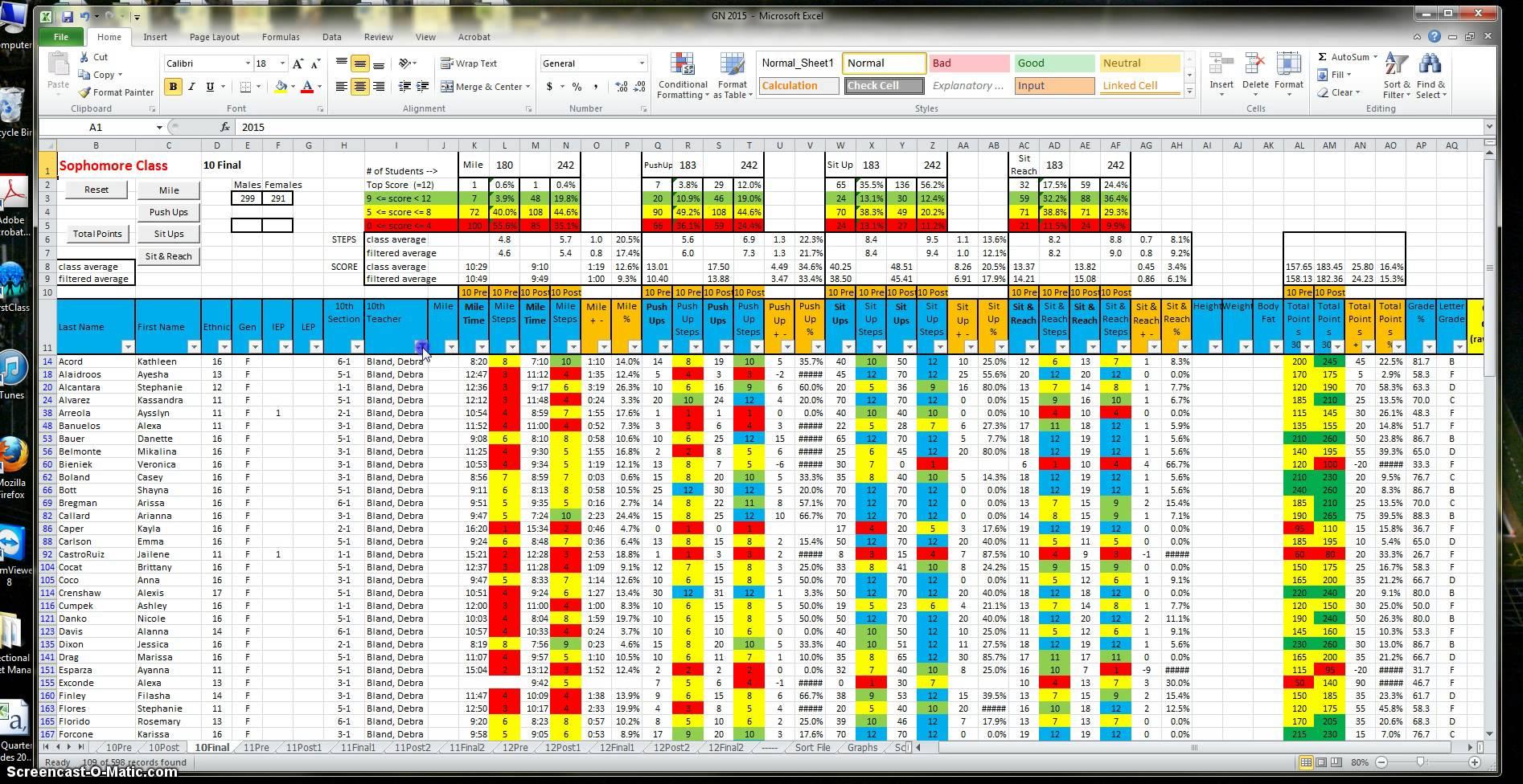 P90x Spreadsheet