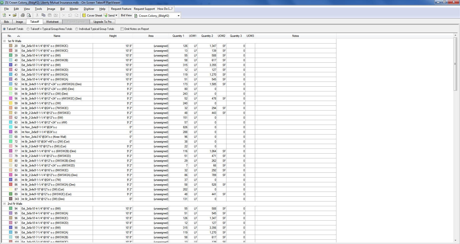 Piping Takeoff Spreadsheet
