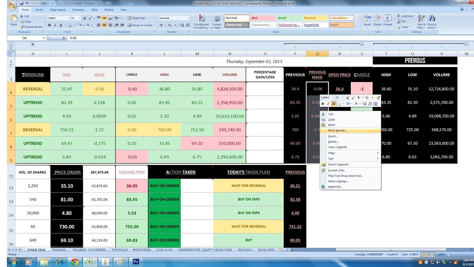 Stock Fundamentalysis Spreadsheet