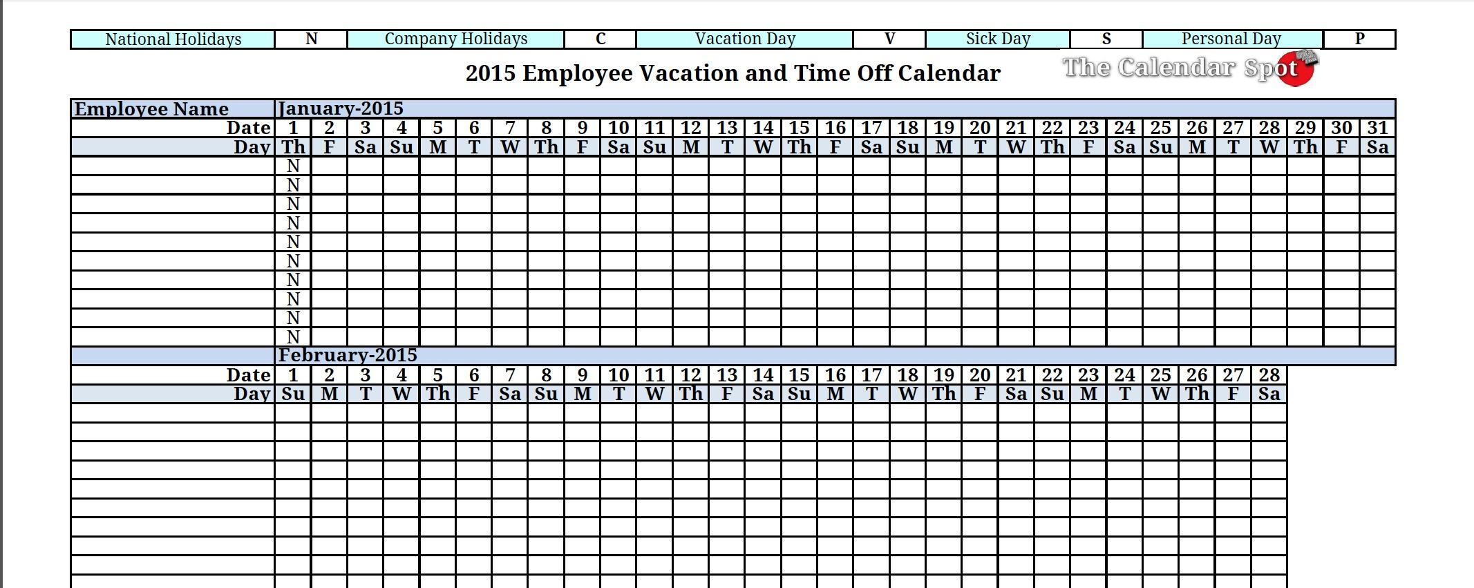 Vacation Accrual Formula Spreadsheet