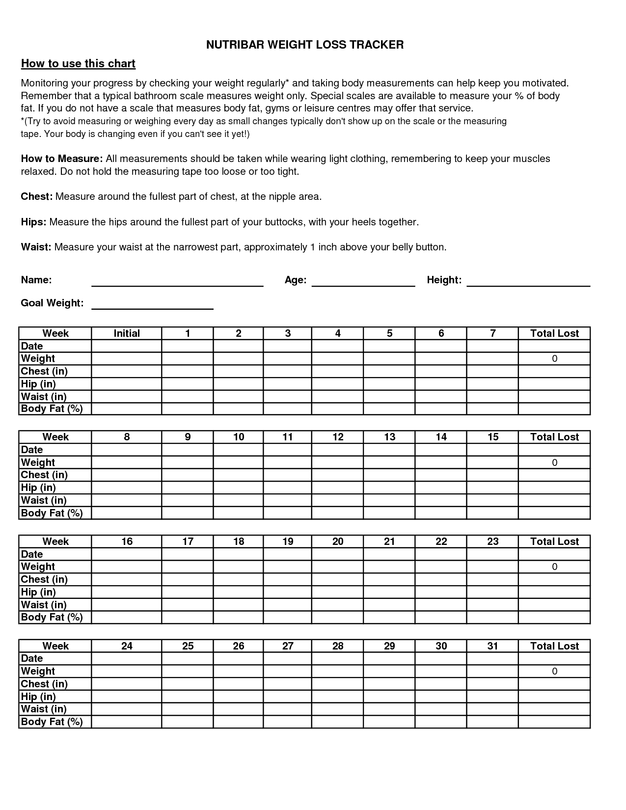 Free Templates Weight Loss Tracker Spreadsheet