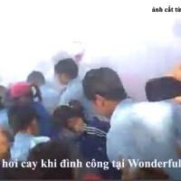 Bản Tin LĐV 20140403 Wonderful Saigon Electrics (Bình Dương): 2000 công nhân đình công, bảo vệ xịt hơi cay, công an đánh công nhân