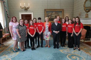 President Hosts the Music Generation Laois Trad Group at Community Garden Party at Áras an Uachtaráin