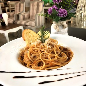 Spaghetti Bolognaise at Laong's Bistro