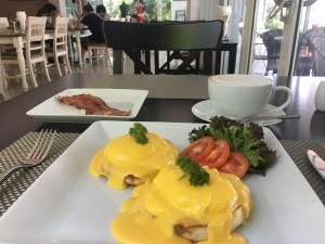 Eggs Benedict at Laong's Bistro